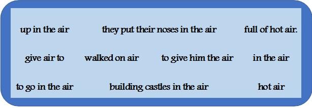 идиомы с air