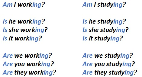 present continuous в вопросительных предложениях. как делать вопросы в present continuous