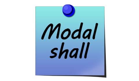 modal shall