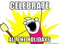 Упражнения по теме праздники