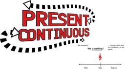present-continuous упражнения