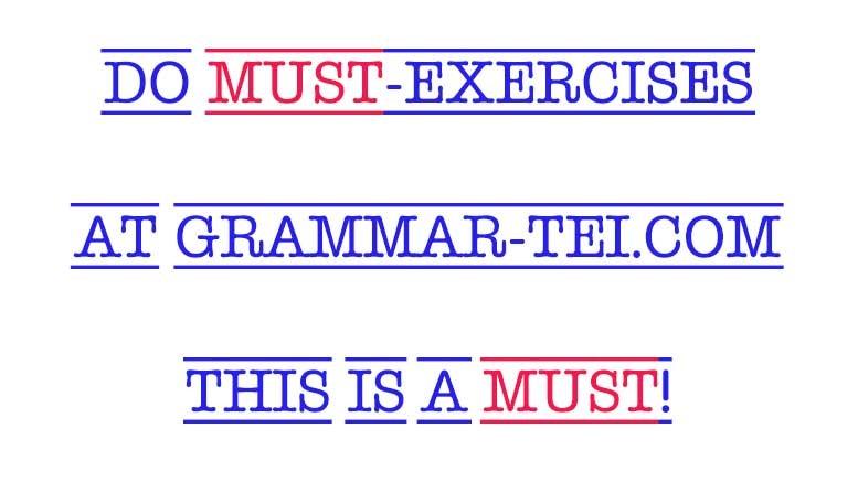упражнения на модальный глагол must