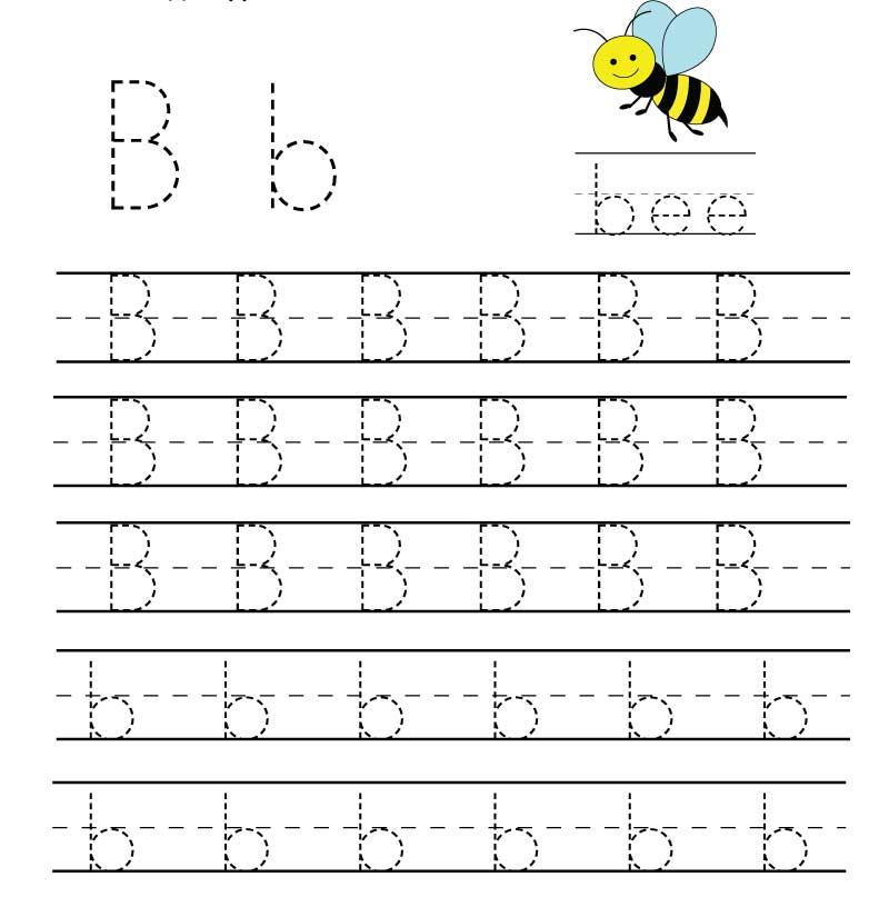 пропись английского алфавита буква b