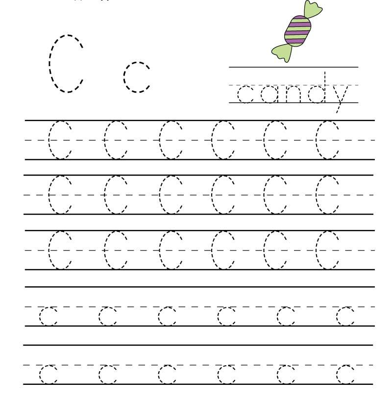 пропись английского алфавита буква c