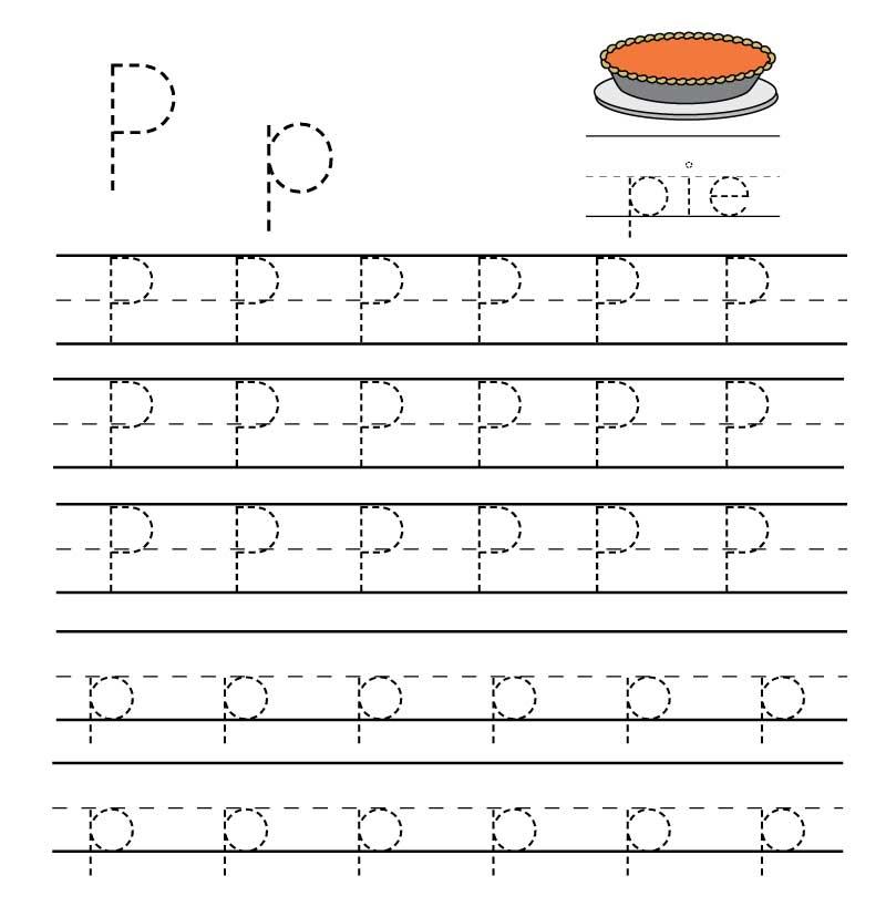 пропись английского алфавита буква p
