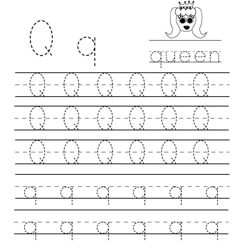 пропись английского алфавита буква q