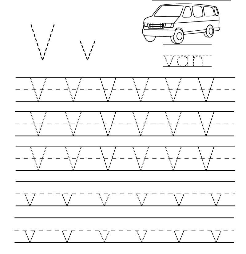 пропись английского алфавита буква v