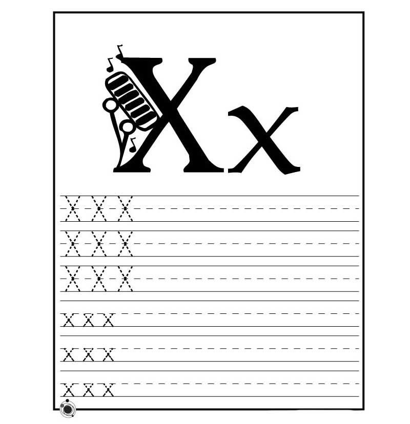пропись английского алфавита буква x