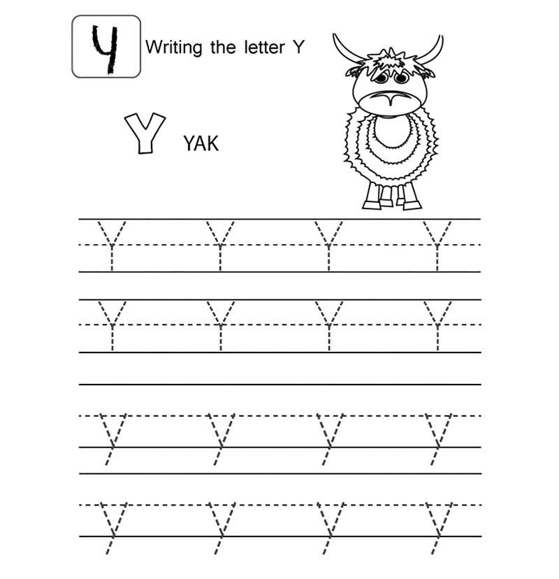 пропись английского алфавита буква y