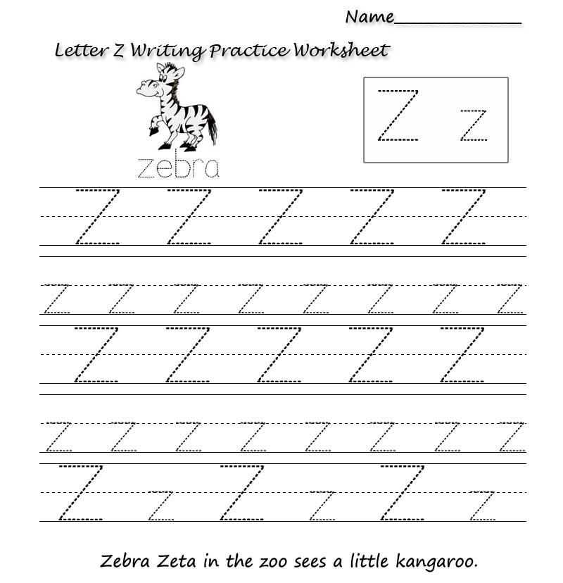 пропись английского алфавита буква z