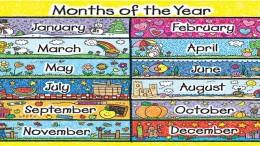 месяцы года по английски