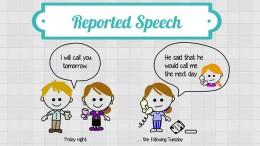 reported speech косвенная речь
