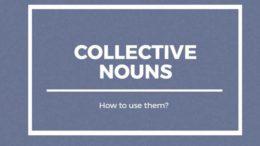 собирательные существительные - collective nouns