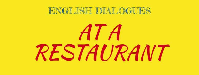 dialogues at the restaurant