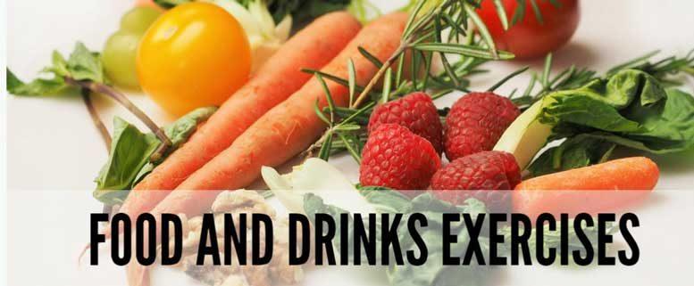 food and drinks exercises, упражнения на тему еда с ответами