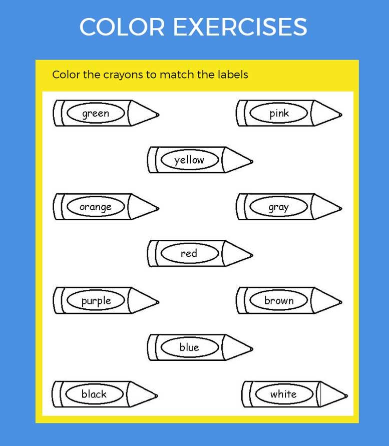 упражнения на цвета. Color exercises