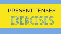 present tenses exercises