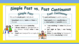 Past Continuous past simple
