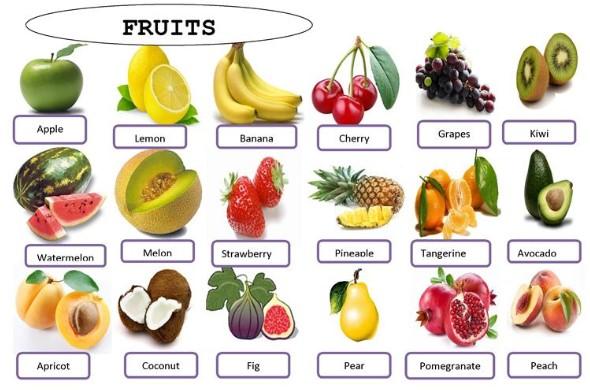 названия фруктов на английском