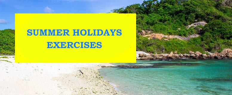 summer holidays exercises